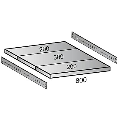 Scholz Fachboden für Cleana-Steckregal - Bodenbreite 800 mm