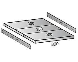 Scholz Fachboden für Cleana-Steckregal - Bodenbreite 800 mm - Tiefe 800 mm