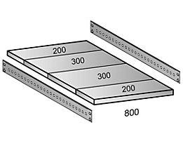 Scholz Fachboden für Cleana-Steckregal - Bodenbreite 800 mm - Tiefe 1000 mm
