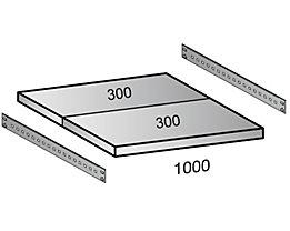 Scholz Fachboden für Cleana-Steckregal - Bodenbreite 1000 mm - Tiefe 600 mm