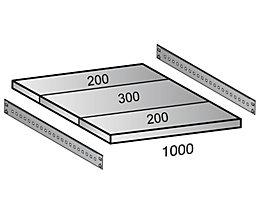 Scholz Fachboden für Cleana-Steckregal - Bodenbreite 1000 mm - Tiefe 700 mm