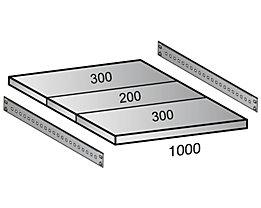 Scholz Fachboden für Cleana-Steckregal - Bodenbreite 1000 mm - Tiefe 800 mm