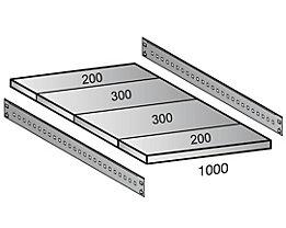 Scholz Fachboden für Cleana-Steckregal - Bodenbreite 1000 mm - Tiefe 1000 mm