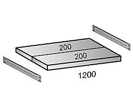 Scholz Fachboden für Cleana-Steckregal - Bodenbreite 1200 mm - Tiefe 400 mm