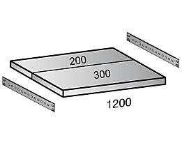 Scholz Fachboden für Cleana-Steckregal - Bodenbreite 1200 mm - Tiefe 500 mm