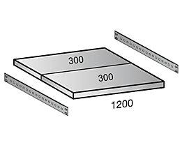 Scholz Fachboden für Cleana-Steckregal - Bodenbreite 1200 mm - Tiefe 600 mm