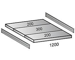 Scholz Fachboden für Cleana-Steckregal - Bodenbreite 1200 mm - Tiefe 700 mm