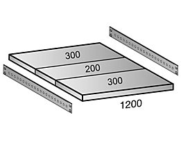 Scholz Fachboden für Cleana-Steckregal - Bodenbreite 1200 mm - Tiefe 800 mm