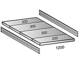Scholz Fachboden für Cleana-Steckregal - Bodenbreite 1200 mm - Tiefe 1000 mm