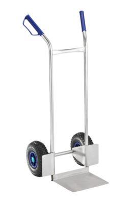Edelstahl-Kistenkarre - mit Luftreifen, Tragfähigkeit 150 kg