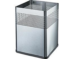helit Papierkorb, quadratisch - Höhe 325 mm, VE 2 Stk