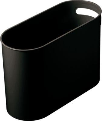 helit Ovaler Papierkorb - Volumen 22 l, VE 4 Stk, schwarz