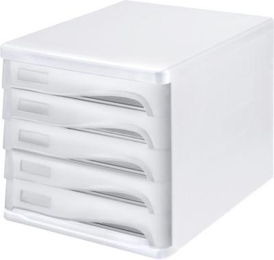 helit Schubladenbox - Gehäusefarbe Weiß, VE 4 Stk