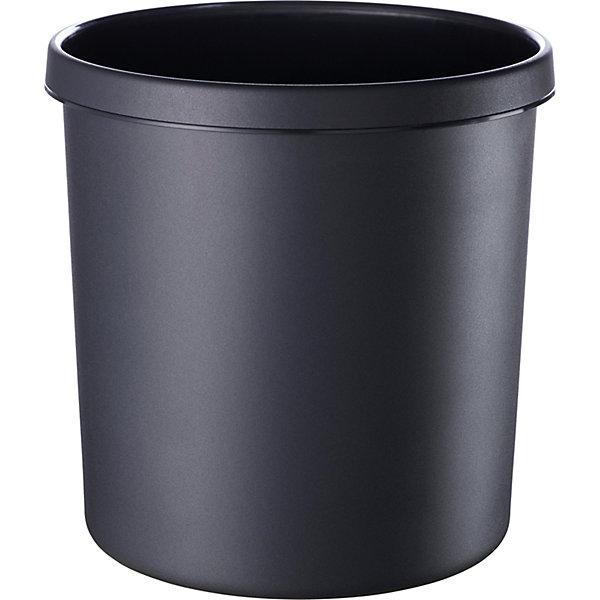 helit Sicherheitspapierkorb - Volumen 12 l  VE 5 Stk  schwarz