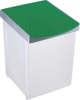 helit Wertstoffsammelbox, lichtgrau - Volumen 20 l, VE 2 Stk