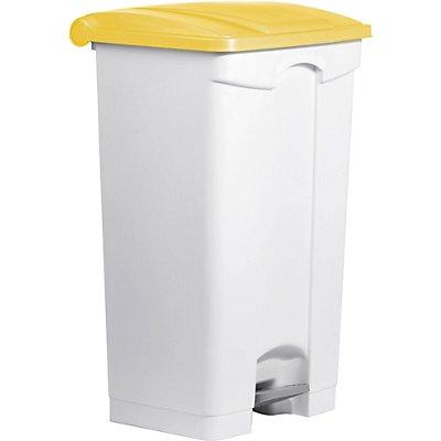 helit Tretabfallbehälter, weiß - Volumen 90 l