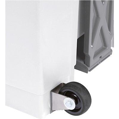 helit Tretabfallbehälter, weiß - Volumen 20 l