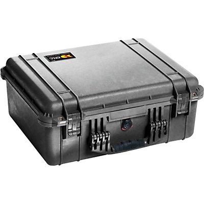 PELI Schutzkoffer aus PP - Inhalt 34,8 l, LxBxH 525 x 436 x 217 mm - mit Würfelschaumstoff