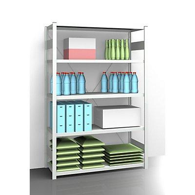 EUROKRAFT Rayonnage emboîtable antibactérien AntiBak® - hauteur rayonnage 2000 mm, rayonnage de base