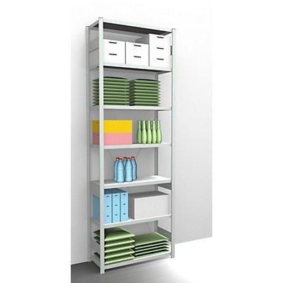 EUROKRAFT AntiBak®-Steckregal, antibakteriell - Regalhöhe 3000 mm, Grundregal