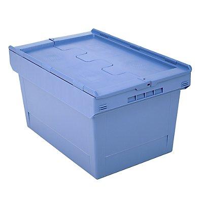 Mehrweg-Stapelbehälter mit Klappdeckel - Inhalt 58 Liter