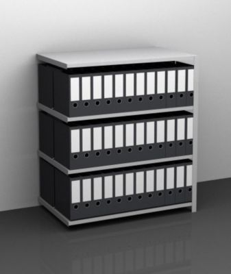 Akten-Schraubregal, verzinkt - Regalhöhe 1150 mm, doppelseitig
