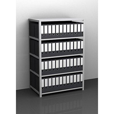 Akten-Schraubregal, verzinkt - Regalhöhe 1500 mm, doppelseitig