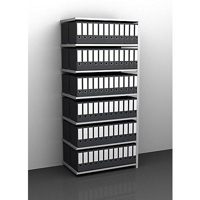 Akten-Schraubregal, verzinkt - Regalhöhe 2550 mm, doppelseitig
