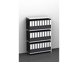 Akten-Schraubregal, verzinkt - Regalhöhe 1150 mm - Anbauregal, Breite x Tiefe 750 x 300 mm