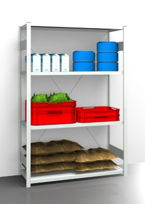 EUROKRAFT Hygiene-Steckregal - Regalhöhe 2000 mm, 4 Fachböden