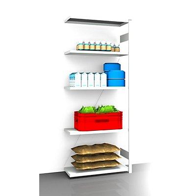 EUROKRAFT Hygiene-Steckregal - Regalhöhe 2350 mm, 5 Fachböden