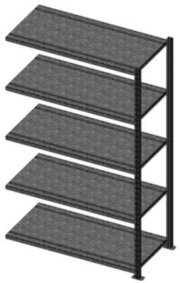Schnellbau-Schwerlast-Steckregal - Fachboden-BxT 957 x 788 mm, Fachlast 270 kg