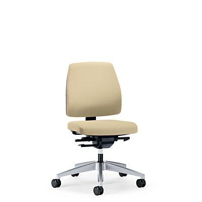 interstuhl Bürodrehstuhl GOAL, Rückenlehnenhöhe 430 mm - Gestell brillantsilber, mit harten Rollen