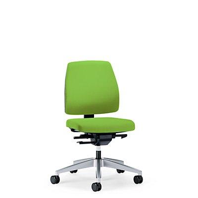 interstuhl Bürodrehstuhl GOAL, Rückenlehnenhöhe 430 mm - Gestell brillantsilber, mit weichen Rollen