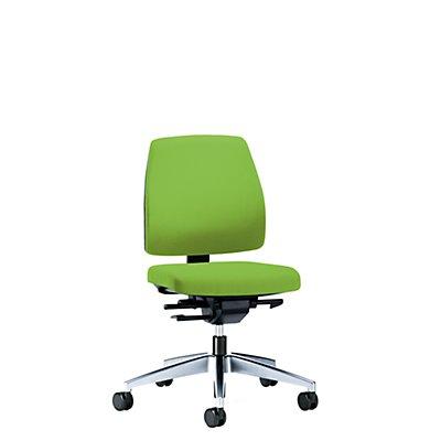 interstuhl Bürodrehstuhl GOAL, Rückenlehnenhöhe 430 mm - Gestell poliert, mit harten Rollen
