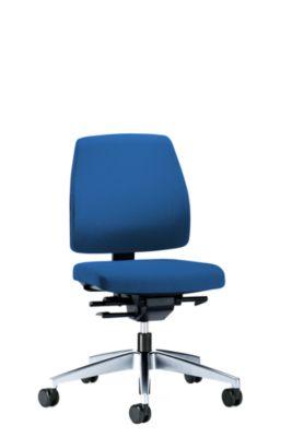 interstuhl Bürodrehstuhl GOAL, Rückenlehnenhöhe 430 mm - Gestell poliert, mit weichen Rollen