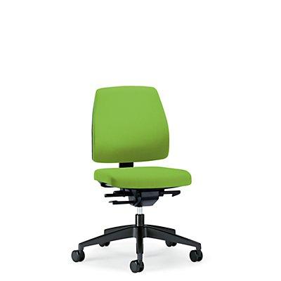 interstuhl Bürodrehstuhl GOAL, Rückenlehnenhöhe 430 mm - Gestell schwarz, mit weichen Rollen