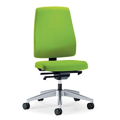 interstuhl Bürodrehstuhl GOAL, Rückenlehnenhöhe 530 mm - Gestell brillantsilber, mit weichen Rollen