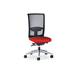interstuhl Bürodrehstuhl GOAL AIR, Rückenlehnenhöhe 545 mm - Gestell brillantsilber, mit harten Rollen, Sitztiefe 390 mm