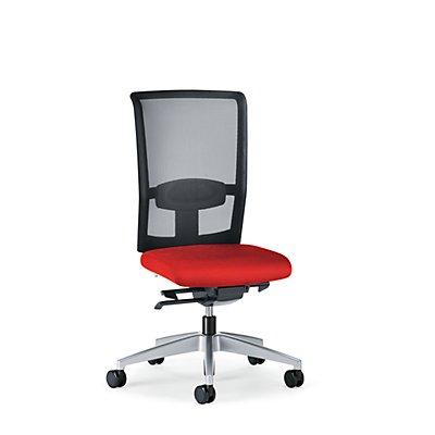 interstuhl Bürodrehstuhl GOAL AIR, Rückenlehnenhöhe 545 mm - Gestell brillantsilber, mit harten Rollen