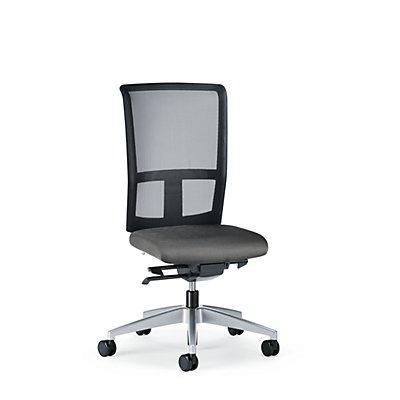 interstuhl Bürodrehstuhl GOAL AIR, Rückenlehnenhöhe 545 mm - Gestell brillantsilber, mit weichen Rollen