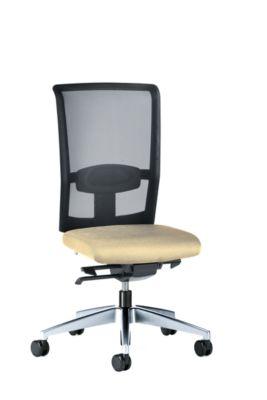 interstuhl Bürodrehstuhl GOAL AIR, Rückenlehnenhöhe 545 mm - Gestell poliert, mit harten Rollen