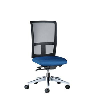 interstuhl Bürodrehstuhl GOAL AIR, Rückenlehnenhöhe 545 mm - Gestell poliert, mit weichen Rollen