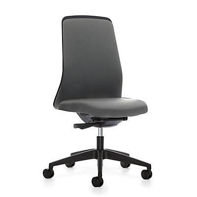 interstuhl Operator-Drehstuhl EVERY, Chillback-Rückenlehne schwarz - Gestell schwarz, mit harten Rollen