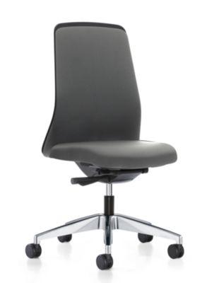 interstuhl Operator-Drehstuhl EVERY, Chillback-Rückenlehne schwarz - Gestell poliert, mit weichen Rollen