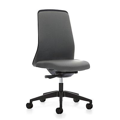 interstuhl Operator-Drehstuhl EVERY, Chillback-Rückenlehne schwarz - Gestell schwarz, mit weichen Rollen