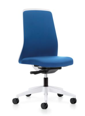 interstuhl Operator-Drehstuhl EVERY, Chillback-Rückenlehne weiß - Gestell weiß, mit harten Rollen