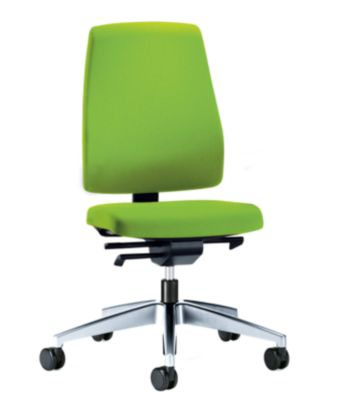 interstuhl Bürodrehstuhl GOAL, Rückenlehnenhöhe 530 mm - Gestell poliert, mit weichen Rollen