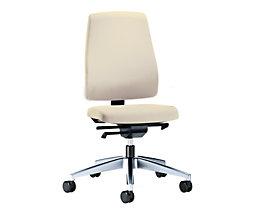 interstuhl Bürodrehstuhl GOAL, Rückenlehnenhöhe 530 mm - Gestell poliert, mit harten Rollen