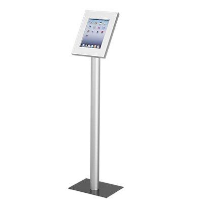 GO-TO™ Bodenständer - Gesamthöhe 1200 mm, mit weißer Tablet-Box